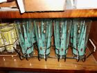 Retro, Atomic Age, Mid Century, Tumbler Set of Eight with Carrier, No chips or b