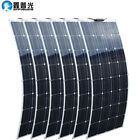 100W 600W Flexible Solar Panel for Roof Boat Home Camping 12V 24V battery Charge