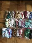 25 TY Beanie Babies Bears Spangle Blue, Spangle Pink Face Both Errors Rare!