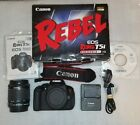 Canon EOS Rebel T5i / Eos 700D 18.0 MP Digital SLR Camera 18-55 mm Lens