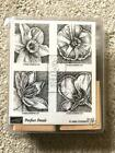 NEW UNUSED Stampin Up Perfect Petals Wood Unmounted Stamps Set of 4 2003