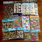 LOT OF 16 BUTTERFLY STICKERS SCRAPBOOKING STICKO JOLEE PAPER CRAFT