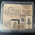 Stampin Up LOADS OF LOVE Wood Mount Used Retired