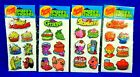 Vintage Gordy International Scratch  Sniff Puffy Stickers Lot Of 4