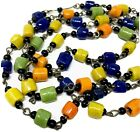 Antique Murano Glass Trade Bead Necklace Vintage 46 Multi Strand  1DAY SALE