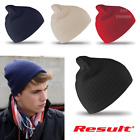RESULT BEANIE CLASSIC HAT 100% COTTON WARM WINTER KNIT SKI CASUAL SPORT STYLE