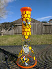 Honeycomb Glass Beaker Glass Water Pipe 13 Tall  9mm Thick Very Durable