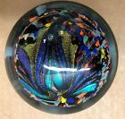 Rollin Karg dicroic paperweight Signed and beautiful