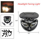 Motorcycle Motocross Headlight Fairing Light Dual Street Fighter 12V AC