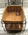 LONGABERGER LG Wrought Iron Desk Stand Baskets And Protectors