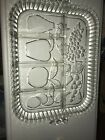 Indiana Glass 5-sectioned Relish Tray w/ fruit design Divided Serving Dish