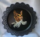 IKEA Skurar Thierry Poncelet Cat Portrait Collector Plate Tray 15