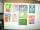 1994 THE SIMPSONS SERIES 2 SKYBOX INSERT 9 CARD WIGGLE SET BART LENTICULAR 3D!