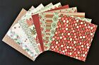 12x12 SCRAPBOOK PAPER 10 sheets CHRISTMAS  FREE SHIPPING  CH411