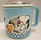 Snoopy Donvier Land Ice Cream Maker Blue EUC Perfect for Summer Treats