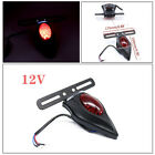 12V Motorcycle Retro Taillights LED Brake Tail License Plate Integrated Light