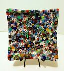 Murano Millefiori Thousand Flowers Murrine Square Plate Glass Art of Venice