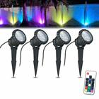 Color Changing Landscape Lights 12W Waterproof LED Garden Pathway Spike Stand