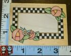 Checkerboard frame flowers pretty c718 all night mediawoodrubber stamp