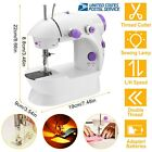 Mini Portable Hand held Clothes Sewing Machine Travel LED Electric w Foot Pedal