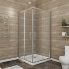 SUNNY SHOWER 36 x 36 x72 Bypass Sliding Shower Enclosure with Shower Base Nickel
