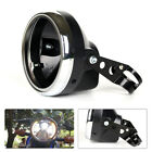 7 Inch Motorcycle Bike Headlight Light Fairing Retro Racer Cover Housing Stent