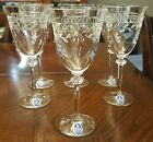 Royal Doulton SIX WELLESLEY 8 1 4 tall Water Goblets Cut Crystal Stems