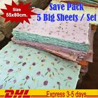 3 Sheets Mulberry Paper Big Dried Flower Leaves Thick Wrap Cards Craft Gift