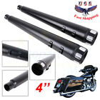 4 Slip On Mufflers Exhaust Pipes For Harley Touring Glide Bagger CVO 1995 2016