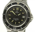 OMEGA Seamaster 200m Date Black dial W buckle Quartz Men's Wrist Watch_467782