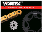 SUZUKI 2008-2018 GSX1300R HAYABUSA VORTEX 530 CHAIN & SPROCKET KIT 18-44 CUSTOM