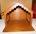 Wood Wooden Creche Manger Stable with Light for your Christmas Nativity Set