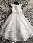 Flower Girl First Communion Dress Size 6 Pearl Waist Detail Ankle Length