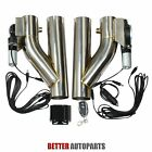2Pcs 25Electric Exhaust Downpipe E Cut Out Valve + One CONTROLLER REMOTE KIT