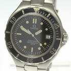OMEGA Seamaster 200m Date Black dial W buckle Quartz Men's Wrist Watch_498245