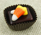 Halloween Candy Corn Collectible Art Glass Chocolate Treat 25 030C