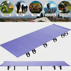 Outdoor Camping Aluminium Frame Mat Pad Hiking Sleeping Folding Bed Portable WY