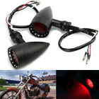 1 Pair Motorcycle Bullet Stop Brake Running LED Turn Signal Tail Red Lights Lamp