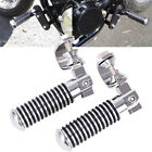 Motorcycle Chrome 1''~ 1.25'' Engine Crash Bar Foot Pegs with U-clamp For Harley