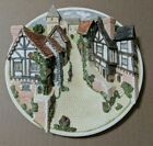 David Winter Cottages Collectors Guild Piece Plaque 3D Plate Cobblestone Street