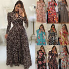 Womens Boho Maxi Floral Print Long Dresses Ladies Summer Holiday Party Sundress