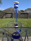 Glass Beaker Water Pipe 18 Tall XL 144mm Bowl Phoenix Royal Blue