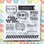 Crazy Good D1661 CTMH Close to My Heart Acrylic Stamps set Congratulations