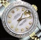 Rolex Ladies Datejust Oyster Diamond Dial Bezel  Watch