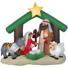 Yard Nativity Scene Christian Christmas Decorations Inflatable Outdoor Airblown