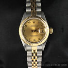 ROLEX OYSTER PERPETUAL DATEJUST LADIES REF 69173 '94 TWO TONE 18K GOLD/SS WATCH