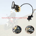 Motorcycle ATV Hydraulic Rear Disc Brake Caliper w Master Cylinder Brake System