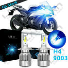 Ice Blue H4 9003 LED Headlight Bulb High-Low Beam 8000K 100W C6 For Motorcycle