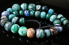 10 off discount Collection old Tibetan antique worry Green Color Glass 33 Beads