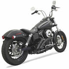 Bassani Black Slotted Shield Radial Sweepers Exhaust Harley Dyna Softail Models